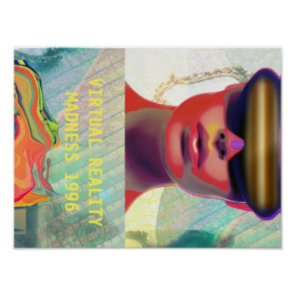 VIRTUAL REALITY MADNESS 1996 POSTER / ART ON WALL