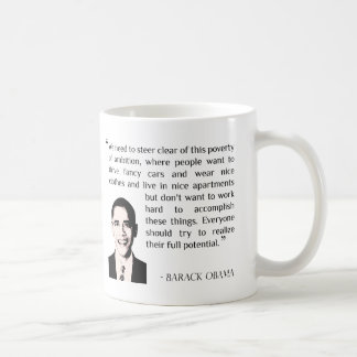 Virtue of hard work, inspirational Barack Obama Classic White Coffee Mug