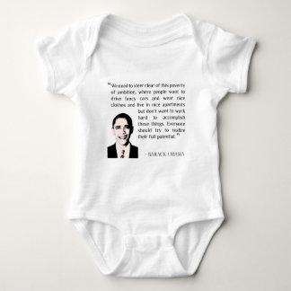 Virtue of hard work, inspirational Barack Obama Tee Shirt