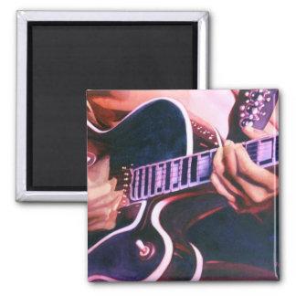 """""""Virtuoso"""" Guitar Player Watercolor Magnet"""