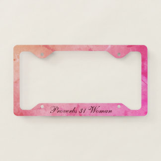 Virtuous Proverbs 31 Woman License Plate Frame