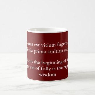 Virtus est vitium fugere basic white mug