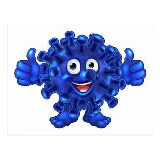 Virus Bacteria Alien or Monster Cartoon Character Postcard