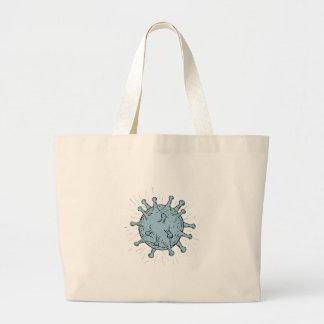 Virus Drawing Large Tote Bag