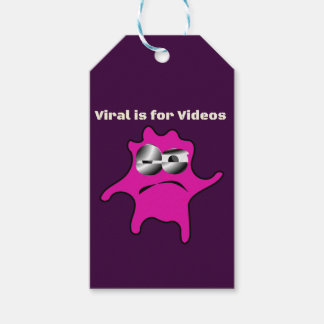 Virus Germ Contagious Viral is for Videos Gift Tags