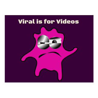 Virus Germ Contagious Viral is for Videos Postcard