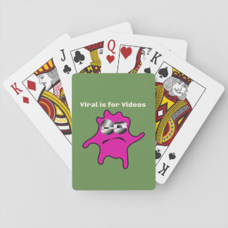 Virus Germs Contagious Viral is for Videos Playing Cards