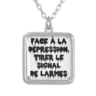 Vis-a-vis the DEPRESSION, To draw the SIGNAL FROM Silver Plated Necklace