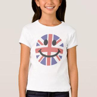 Visage britannique de smiley de drapeau t-shirt