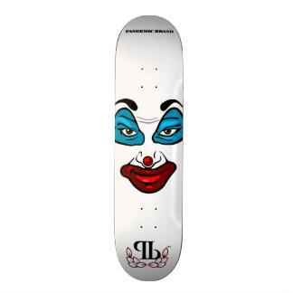 Visage de clown skateboard old school 18,1 cm