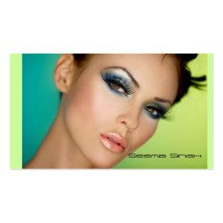 Visage de cosmétiques de maquilleur plein carte de visite standard