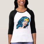 Visage de femme de merveille tee shirts