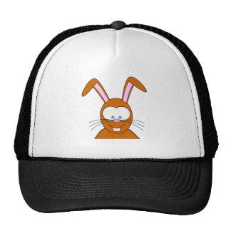 Visage de lapin de bande dessinée casquettes