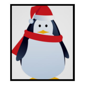 Visage de pingouin de Noël