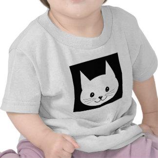 Visage mignon de chat t-shirts