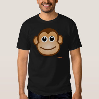 Visage mignon de singe tee shirts