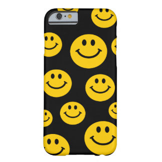 Visage souriant jaune coque iPhone 6 barely there