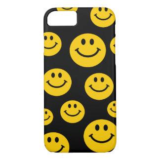 Visage souriant jaune coque iPhone 7