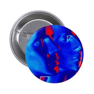Visages bleus badge avec épingle