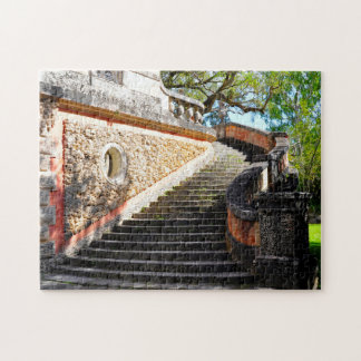 Viscaya Stairs Miami Florida. Jigsaw Puzzle