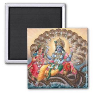 Vishnu & Lakshmi Magnet - Version 2