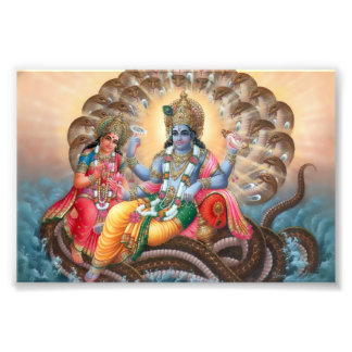 "Vishnu & Lakshmi print (6"" x 4"")"