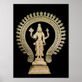 Vishnu, Late Chola Poster