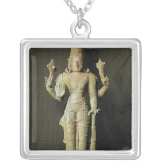 Vishnu, Late Chola Silver Plated Necklace