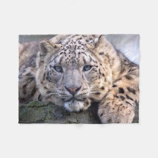 Vishnu Snow Leopard Fleece Blanket