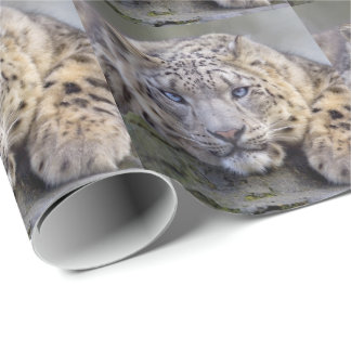 Vishnu Snow Leopard Wrapping Paper