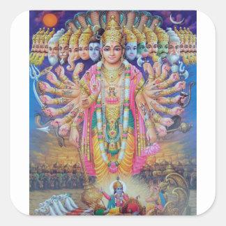 Vishnu Square Sticker