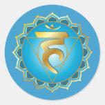 Vishuddhi or throat chakra Sticker