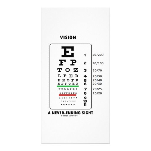 Vision A Never-Ending Sight (Snellen Chart) Picture Card