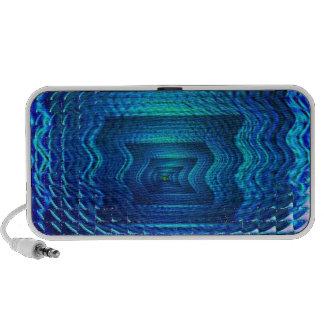 Vision bleue haut-parleur ordinateur portable