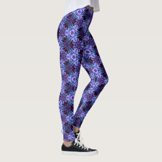 Vision Crystal Leggings Purple & Blue