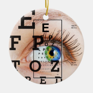 Vision / Eye Doctor - SRF Round Ceramic Ornament