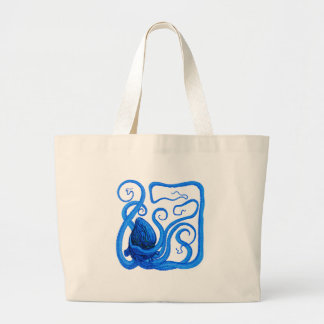 VISION OF BLUE LARGE TOTE BAG