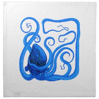VISION OF BLUE PRINTED NAPKINS