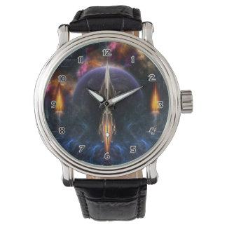 Vision Of Flight Fractal Art Wrist Watch