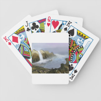 Vision of sea water bicycle playing cards