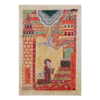 Vision of St. Aldegonde of Maubeuge Poster