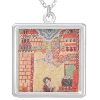 Vision of St. Aldegonde of Maubeuge Silver Plated Necklace