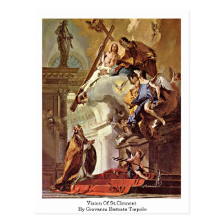 Vision Of St.Clement By Giovanni Battista Tiepolo Postcard