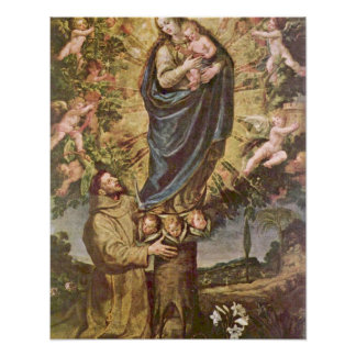 Vision of St. Francis by Vincenzo Carducci Poster