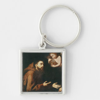 Vision of St. Francis of Assisi Keychain