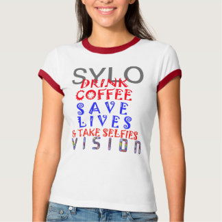 Vision SYLO Drink Coffee save Life work out VNeck T-Shirt