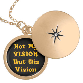Vision Your Design Not my Vision but His Vision Gold Plated Necklace