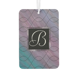 Visionary Auto | Monogram Pink Purple Teal Blue | Car Air Freshener