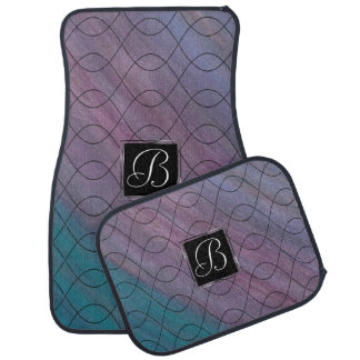 Visionary Auto | Monogram Pink Purple Teal Blue | Car Mat