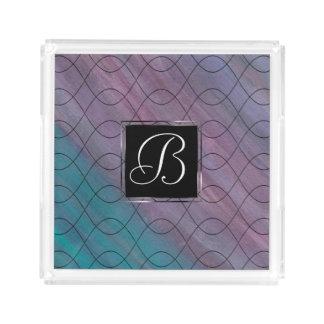 Visionary Bath   Monogram Pink Purple Teal Blue   Acrylic Tray